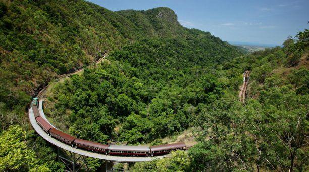 Kuranda Scenic Rail famous 'horseshoe' turn