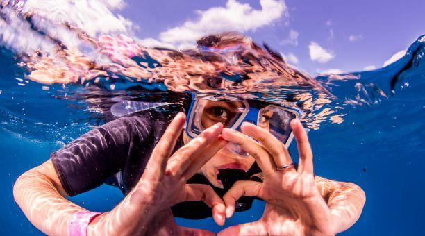 Love Snorkelling on Australia's Great Barrier Reef