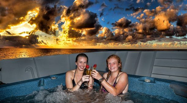 Relax in Reef Encounter's Spa  after a busy day